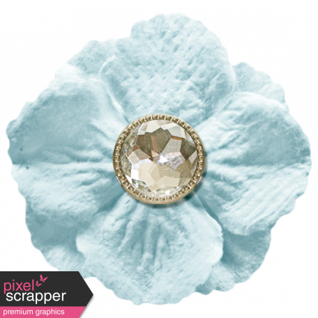 Oh Baby, Baby - Blue Flower With Diamond