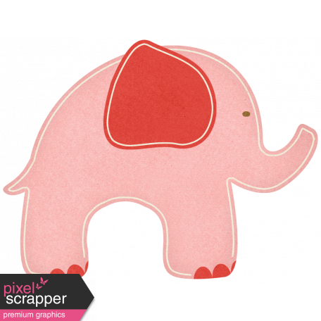 Oh Baby, Baby - Pink Elephant Sticker