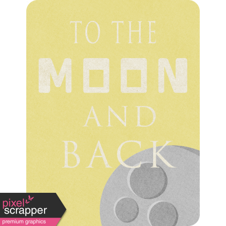 Space Explorer - To The Moon And Back Card 3x4