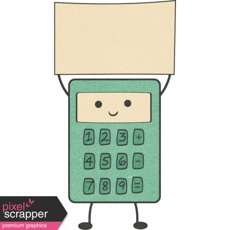 School Fun - Calculator Sticker graphic by Sheila Reid