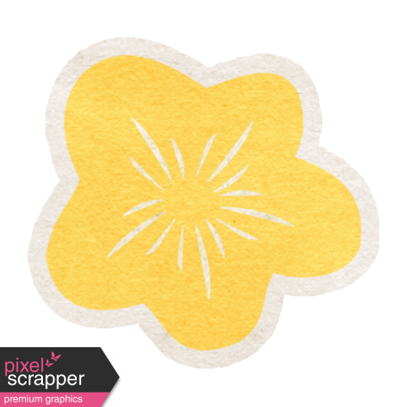 Summer Daydreams - Yellow Flower Sticker