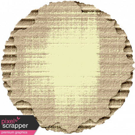 Footsteps Cardboard Circle - Yellow