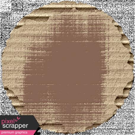 Footsteps Cardboard Circle - Brown
