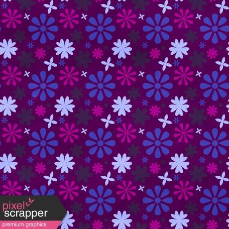 Floral 27 Paper - Purple