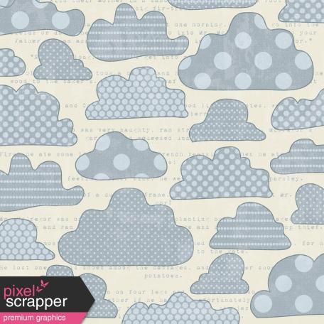 Clouds 01 Paper - Blue