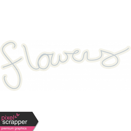 Flowers Word Art