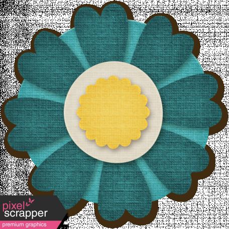 Flower Set 12 - Teal