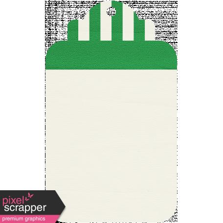 Tag 18 - Dark Green & White
