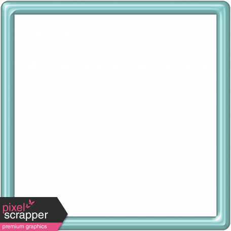 Aqua Plastic Frame - 5x5