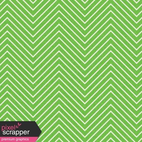 Chevron 03 Paper - Light Green & White