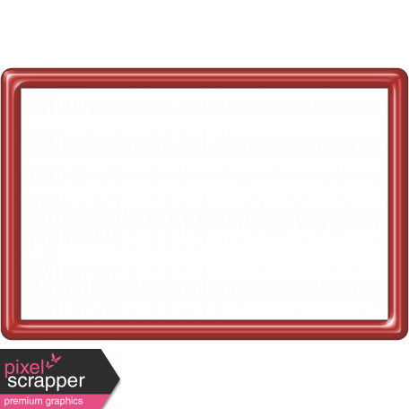 Red Plastic Frame 4x6
