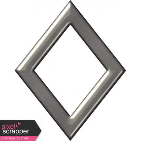 Silver Diamond Outline