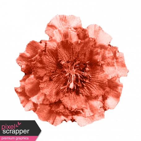 Cloth Flower 8 - Red