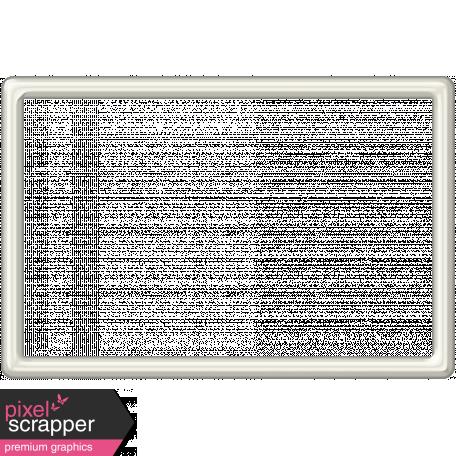 White Plastic Frame 4x6