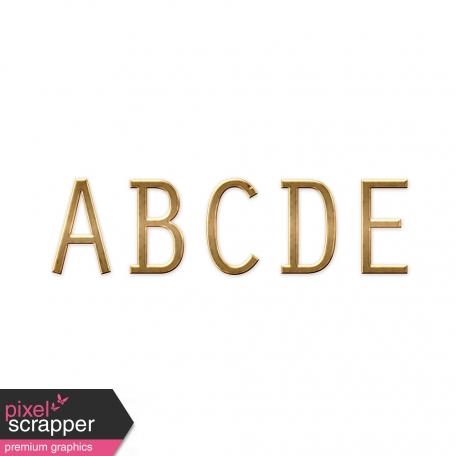 Sans Serif Gold Alpha