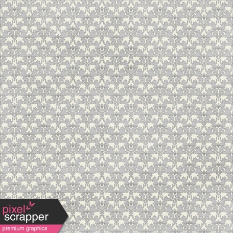 Damask 30 Paper - White & Gray
