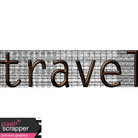 Travel Word Art