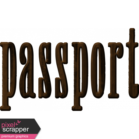 Passport Word Art