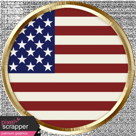 USA Flag Brad