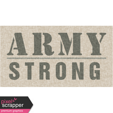 Army Strong Tag