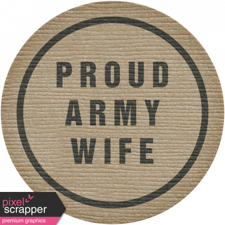 Proud Army Wife Tag