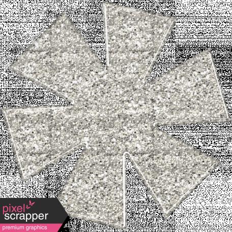 Sofia Glitter Flower - White
