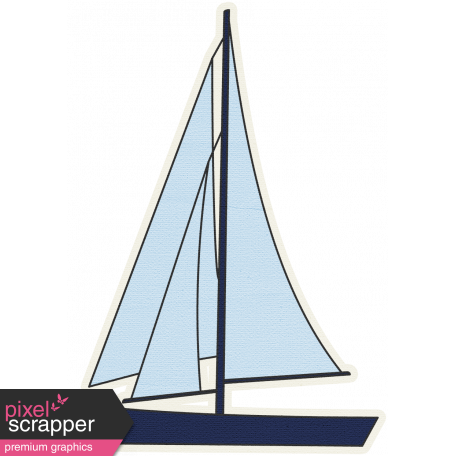 Blue Sailboat 01