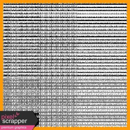 Orange Scalloped Border