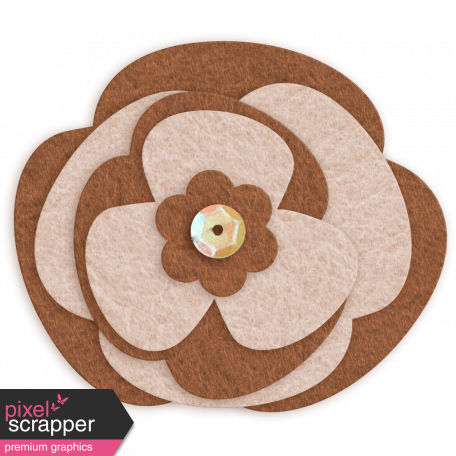 Sofia Felt Flower - Brown