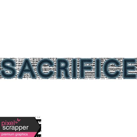 Sacrifice Word Art (Navy)