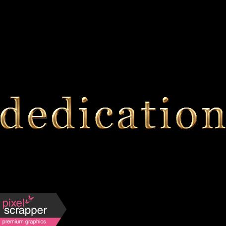Dedication Word Art