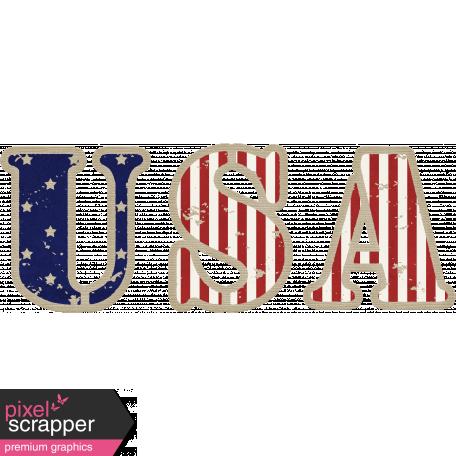 USA Word Art