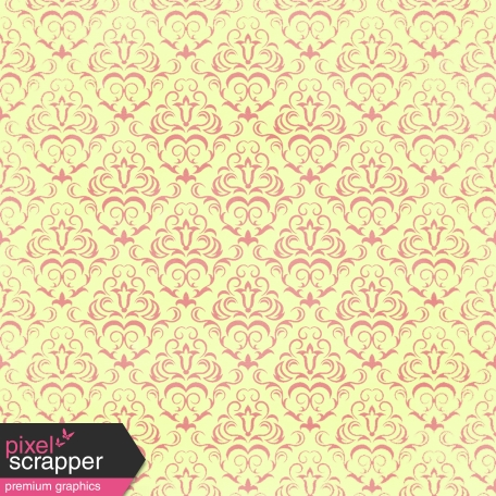 Damask Paper - Yellow & Pink