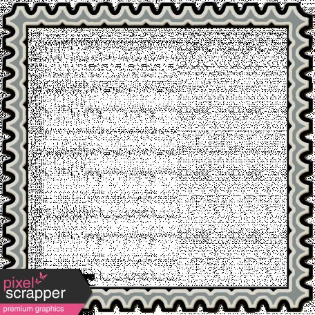 Plastic Stamp Frame - Blue