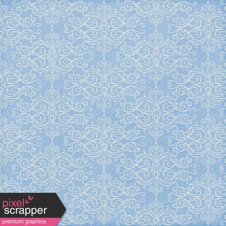 Paper 024 - Damask - Blue & White