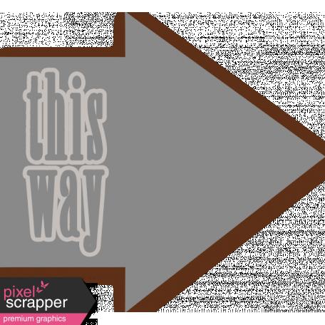 This Way Arrow Tag
