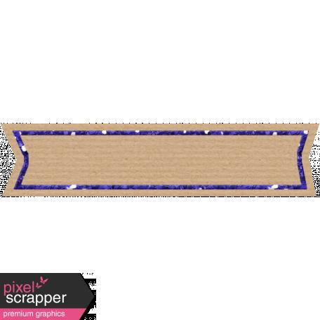 Birthday Banner Tag - Purple