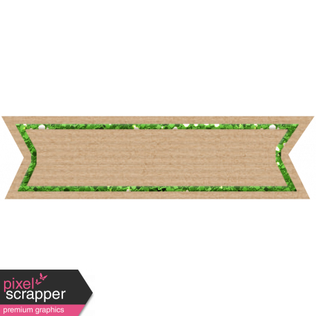 Birthday Banner Tag - Green