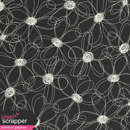 Paper 059 - Flowers - Black & White