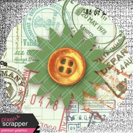 Taiwan Paper Flower 10n - Passport Stamped