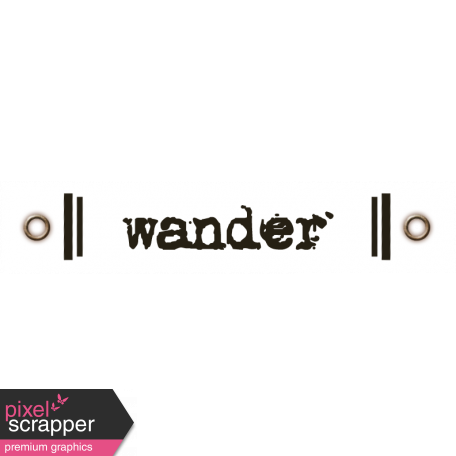 Travel Label - Wander