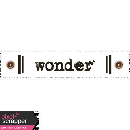Travel Label - Wonder