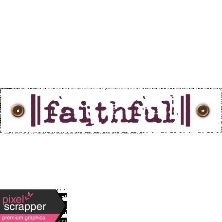 Taiwan Love Label - Faithful