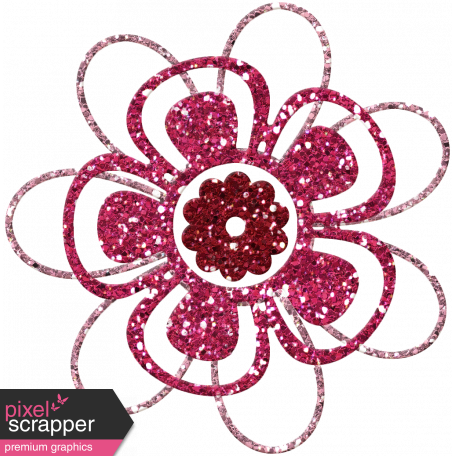 DSF June 2013 Blog Train - Glitter Flower