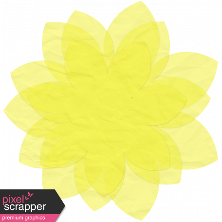 Yellow Tissue Paper Flower
