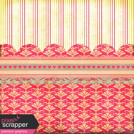 Vietnam Paper Cluster Background - Hearts & Pink
