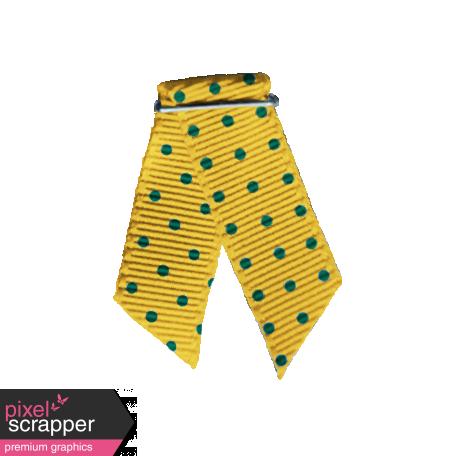 Dino Ribbon Fold & Staple - Yellow & Green