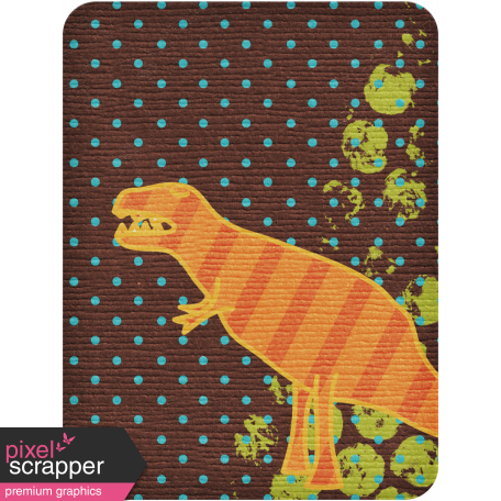 Dino Journal Card - T Rex