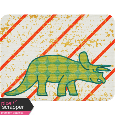 Dino Journal Card - Triceratops