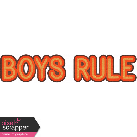 Boys Rule - Dino Word Art